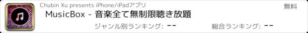 おすすめアプリ MusicBox - 音楽全て無制限聴き放題