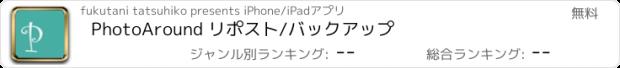 おすすめアプリ PhotoAround リポスト/バックアップ